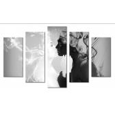 Модульная картина абстракция люди и поцелуй 80х140 М1722
