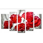 Модульная картина абстракция маки и цветы 80х140 М2132
